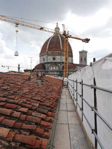 Rooftop view over flats in Florence