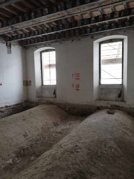 Work underway renovating apartment for sale in Florence